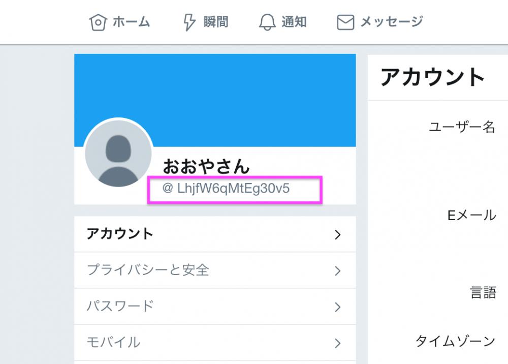 Twitter ユーザー 名 と は